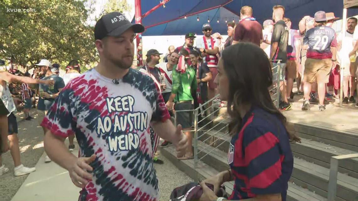 Fans gather at Oskar Blues in Austin before USMNT match against Jamaica
