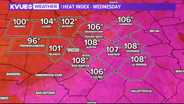 Dangerous heat continues Wednesday