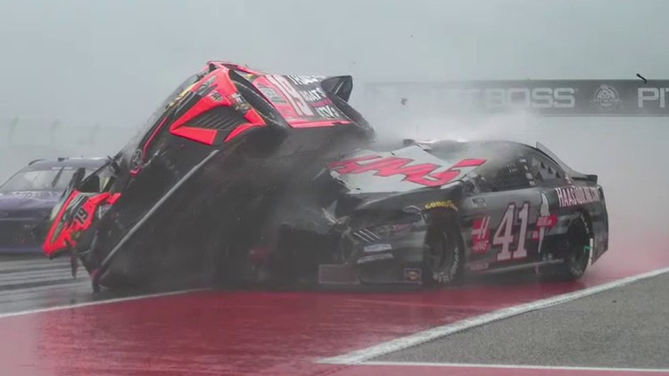 Fiery NASCAR crash at COTA briefly stops race under red flag