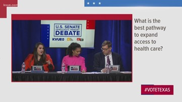 KVUE U.S. Senate Democratic debate: Candidates address best way to expand access to health care