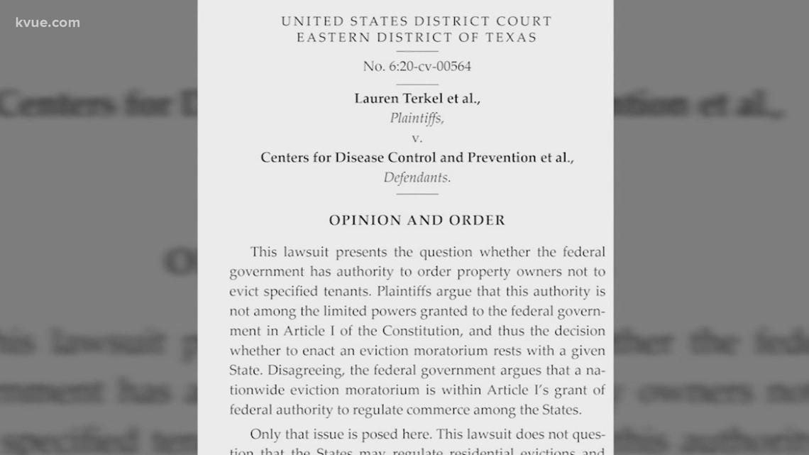 Texas federal judge rules eviction moratorium unconstitutional