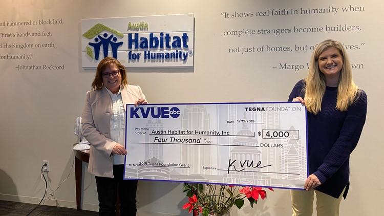Austin Habitat for Humanity check presentation