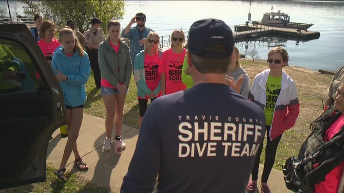 Travis County Sheriff's Office dive team goes above and beyond to thank Girl Scouts