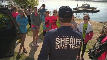 Travis Co. Sheriff's Office dive team gives Girls Scout troop a lesson