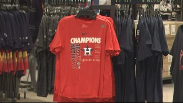 Austin-area Dick's Sporting Goods stores open early to sell Astros ALCS Championship gear