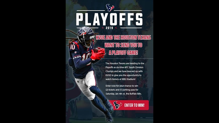Houston Texans Playoff Tickets Giveaway