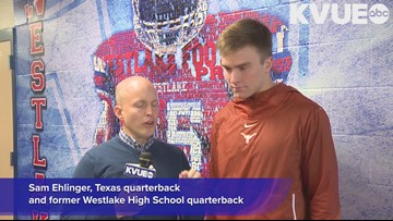 FULL INTERVIEW: Texas' Sam Ehlinger talks Westlake High School connection with Drew Brees, Nick Foles