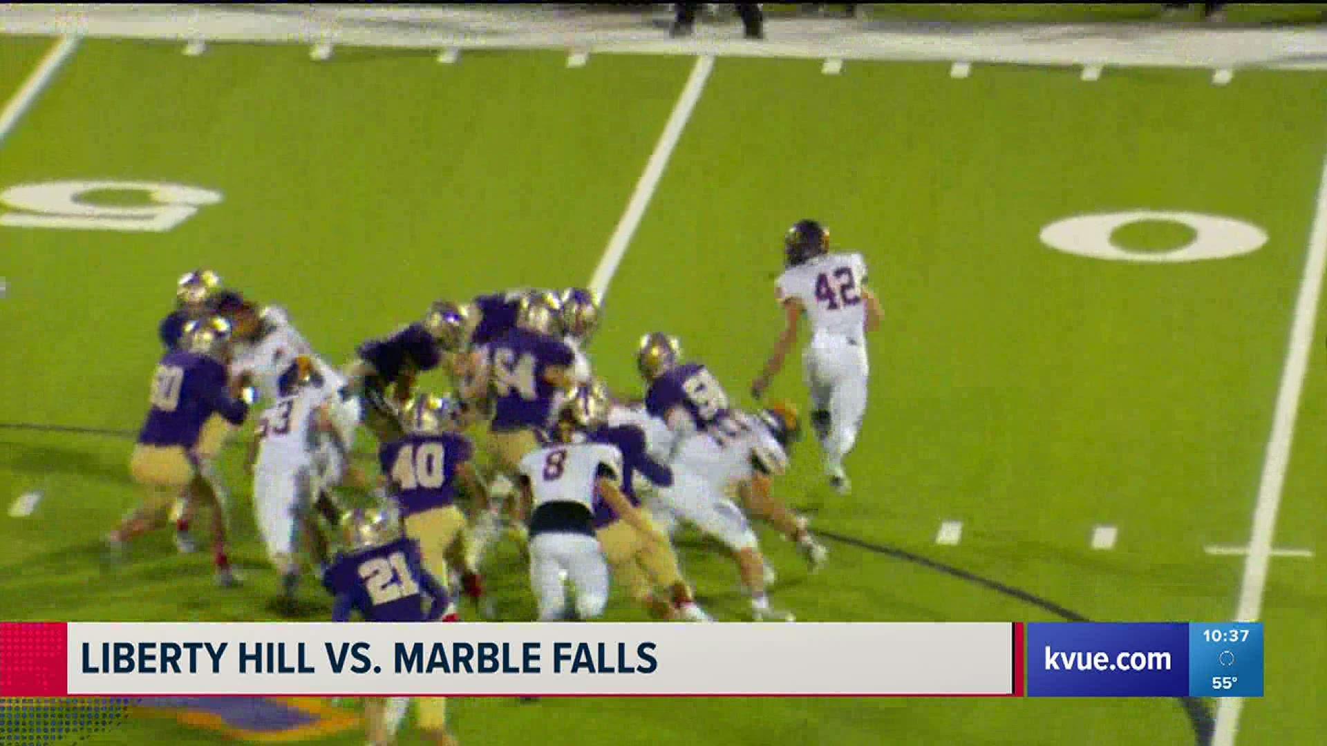 Tx High School Football Game Of Week Marble Falls Liberty Hill Kvue Com