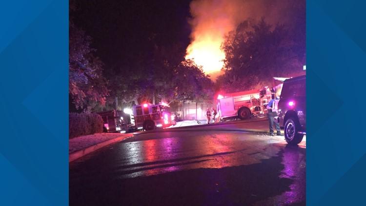 Duplex fire in West Austin