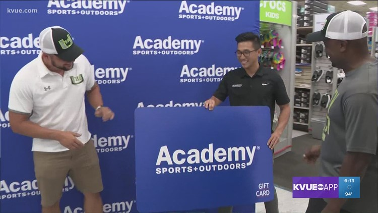 Academy donates shopping spree to Unity Select Sports after football gear was stolen last weekend