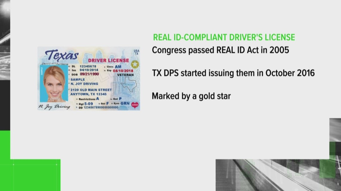 what do the star mean on texas drivers license