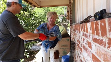 'There's a silver lining to all of this' | Two Central Texans help clean home after eviction nightmare