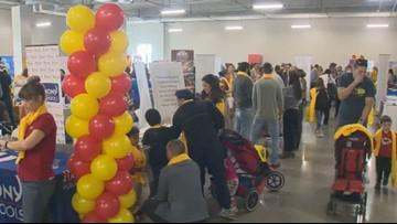 Parents check out options at Austin School Fair