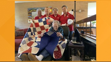 Quilts of Valor surprises 100-year-old WWII veteran with special quilt