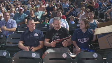 Austin veteran surprised with key to new house at Round Rock Express game