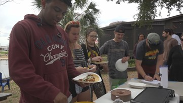 Environmental group holds free fish fry, gives tacos made from invasive species found in San Marcos, Comal Springs