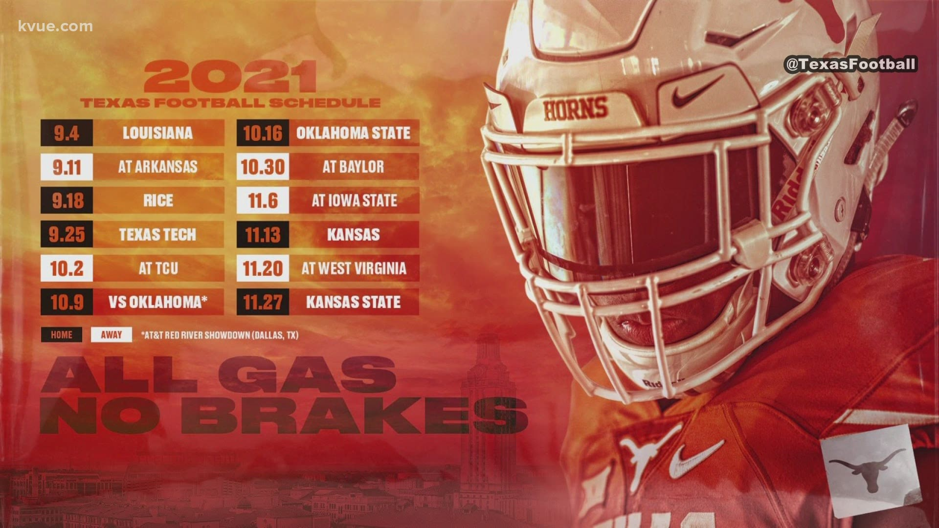 UT football 2021 schedule: Here's who the Longhorns are playing
