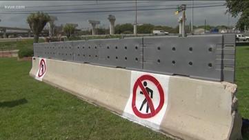 TxDOT adding pedestrian barriers to I-35