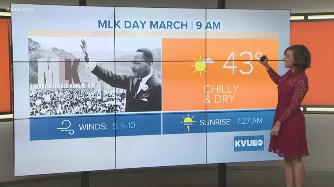 FORECAST: Chilly morning but pleasant afternoon ahead for MLK Day