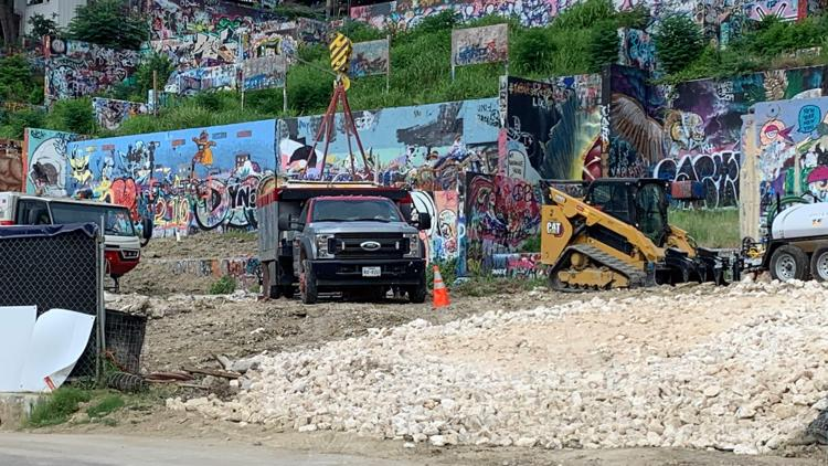 PHOTOS: HOPE Outdoor Gallery wall moving to new location