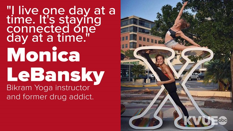 Monica LeBansky was addicted to alcohol, cocaine and even meth. Then she found yoga.