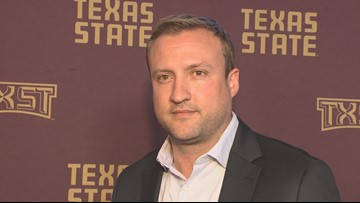 Jake Spavital visits Austin to meet Texas State football fans
