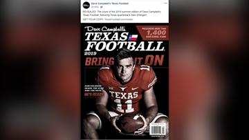 Texas QB Sam Ehlinger on cover of Dave Campbell's Texas Football