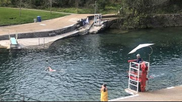 Come on in, the water's fine!   Barton Springs Pool reopens to public