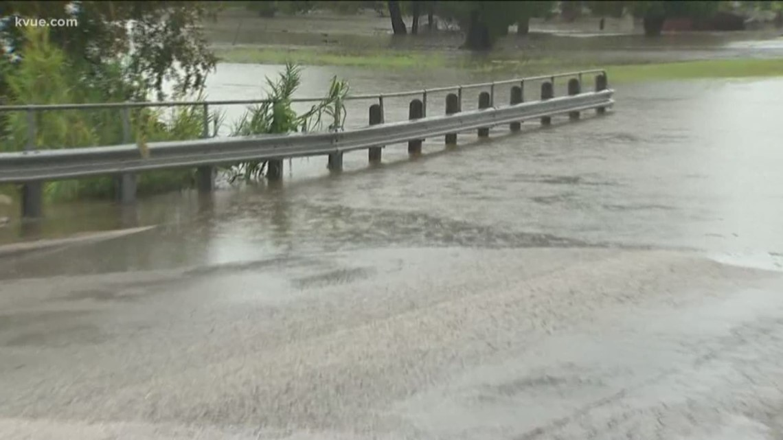 Flooding Covers 2nd Street In Marble Falls Kvue Com