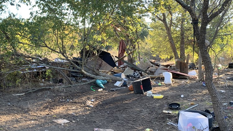 Large homeless encampment in Southeast Austin