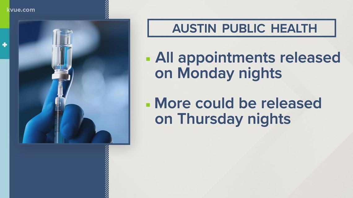 Austin Public Health changes vaccine scheduling