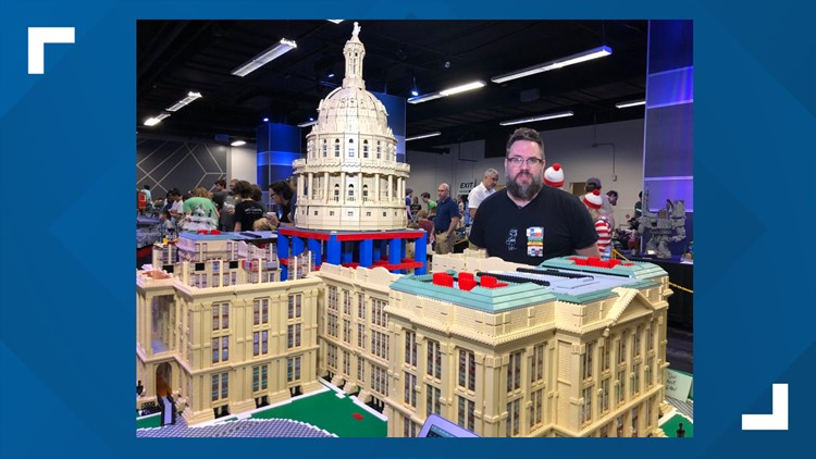 Texas Capitol LEGO Replica