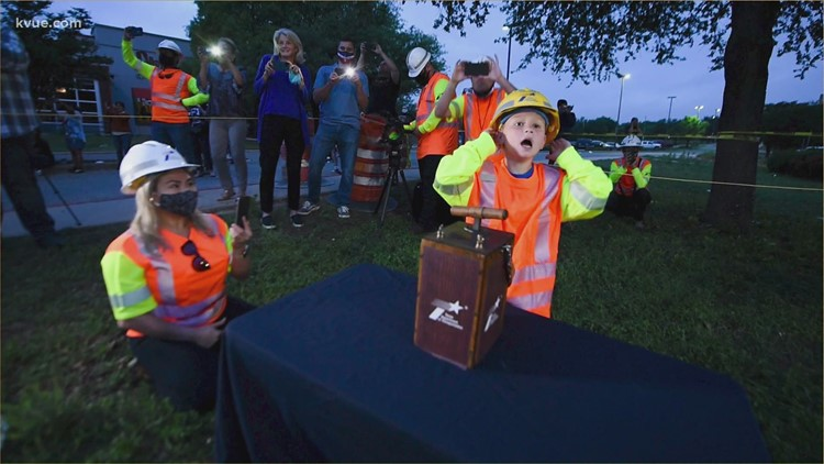 6-year-old helps with flyover implosion
