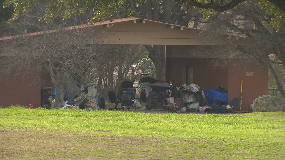 'That's not a place to camp' | Homeless camp at Gillis Park in South Austin keeping some families away