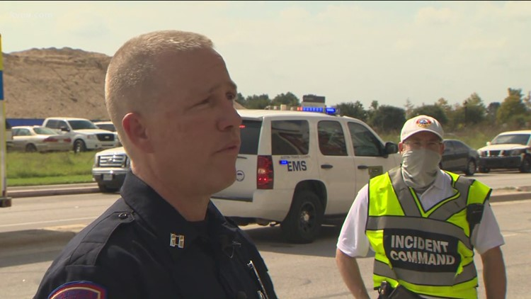 Officials provide an update after 2 cranes collide in East Austin