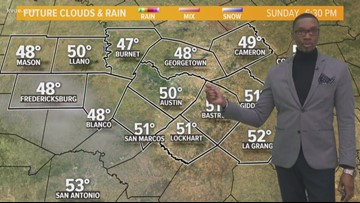Chilly, dry, and sunny Sunday