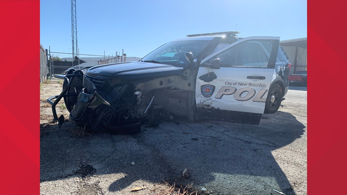 NBPD patrol vehicles totaled after hit by alleged intoxicated driver