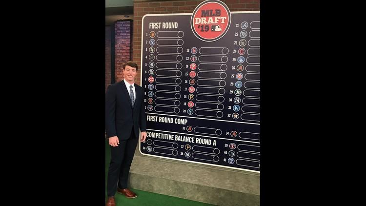 Brett Baty at MLB's June Amateur Baseball Draft
