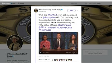 Williamson County sheriff responds to 'Late Night' joke about police