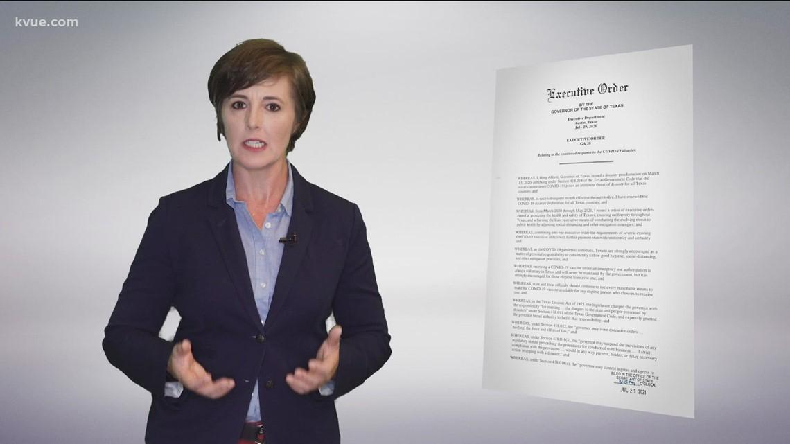 Explaining Gov. Abbott's latest executive order
