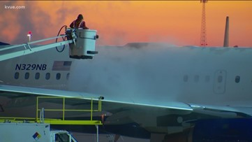 What happens overnight at Austin-Bergstrom International Airport?