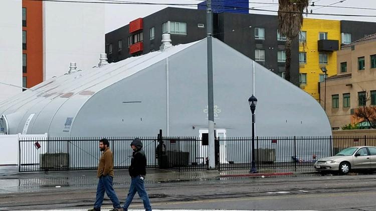 Sprung shelter in San Diego