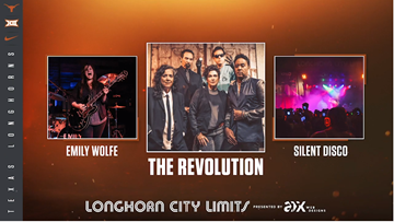 Prince's former band, The Revolution, to headline Longhorn City Limits before Kansas Jayhawks game