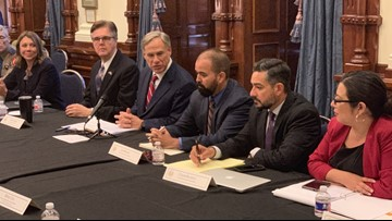 Gov. Abbott holds meeting of Texas Safety Commission at Capitol