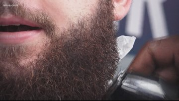 Hundreds of men in Austin trim their beards to help fight prostate cancer