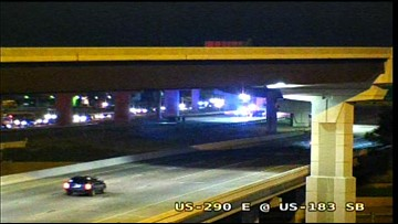 Motorcyclist dies after hitting flyover wall, falling into U.S. 290 lanes below, Austin police say