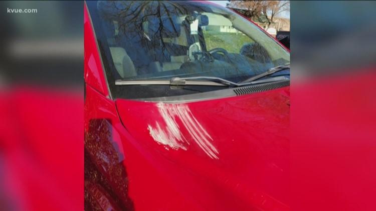 North Austin woman warns of rock thrower