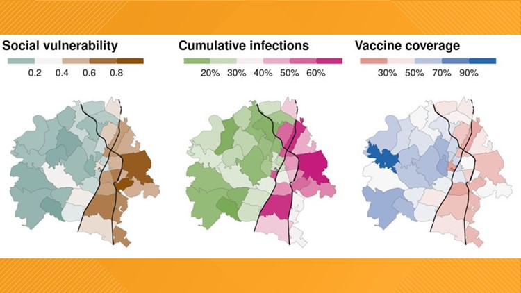 UT report finds disparities in COVID-19 vaccine and infection rate between East and West Austin