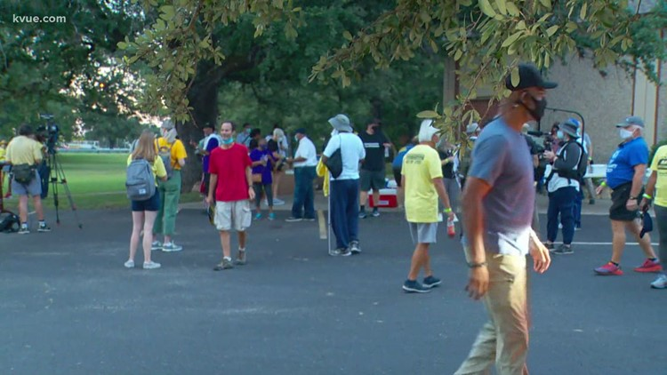 Voting rights activists marching from Georgetown to Texas Capitol