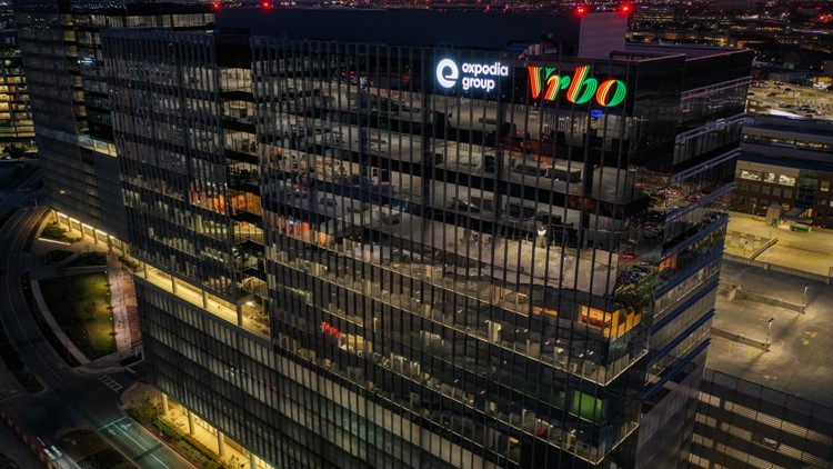Vrbo commemorates Black History Month with red, yellow and green sign on Austin office